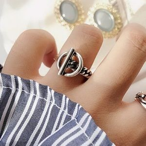 🪐Insta belt sterling silver ring